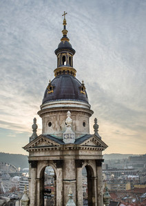 The view over Budapest Hungary from Saint Istvans Basilica vi