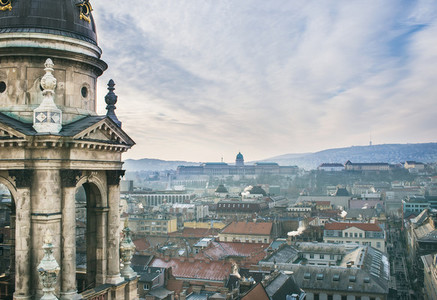 The view over Budapest  Hungary  from Saint Istvan s Basilica vi