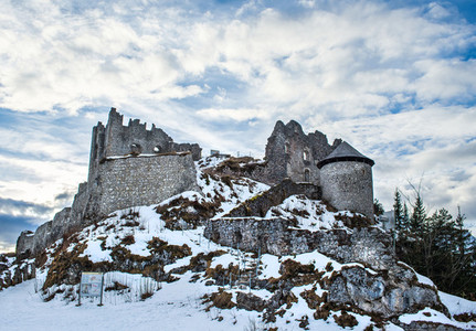 Medieval ashes of the Ehrenberg castle in Tirol Alps  Austria  i