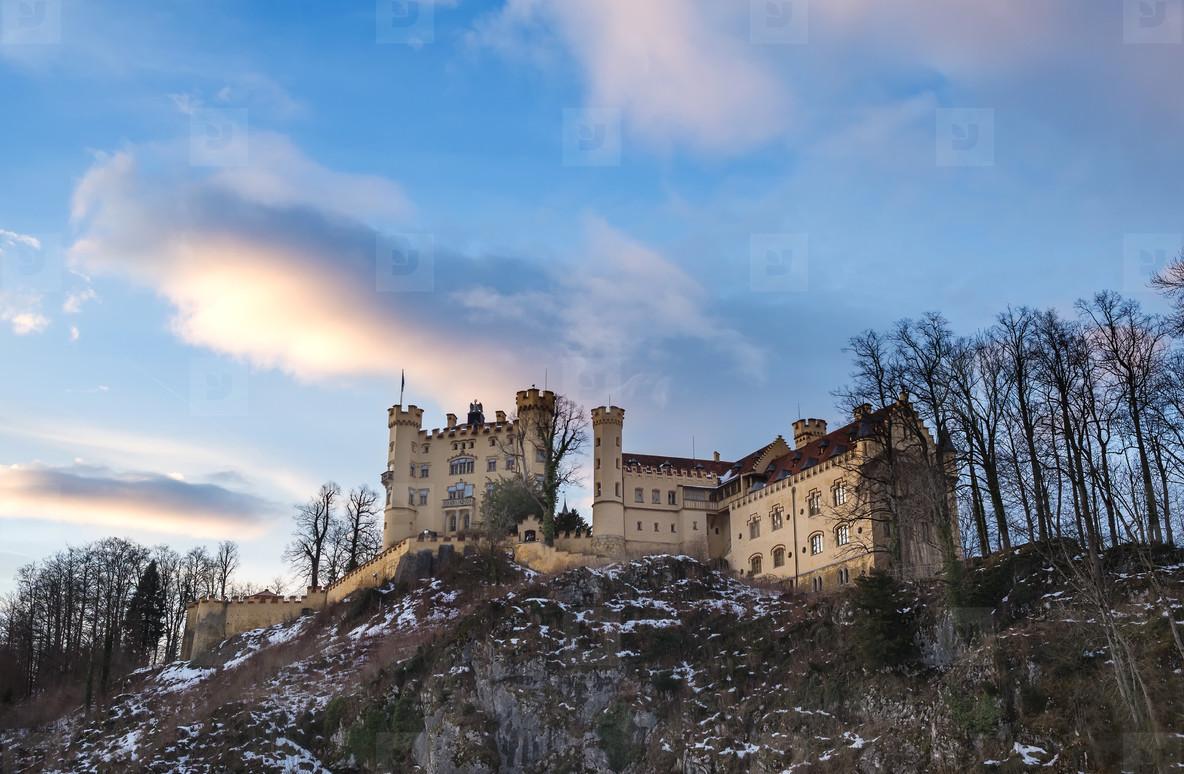 Hohenschwangau castle in Bavaria  winter