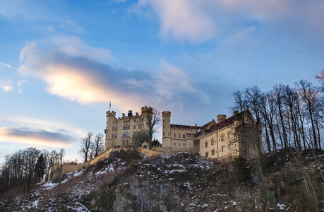 Hohenschwangau castle in Bavaria  winter