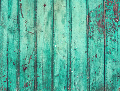 Old rustic painted cracky green turqouise wooden texture