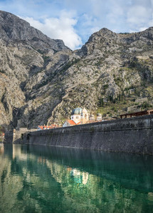 The sea gate of Kotor Montenegro
