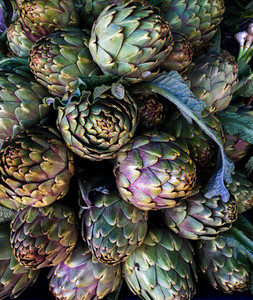 Artichokes on farmers market in the south of Mediterranean