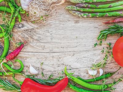 Mediterranean vegetable set consisting of garlic  tomato  fresh