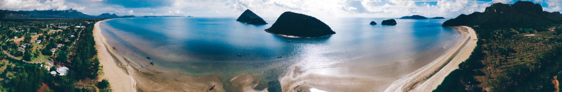 Drone Beach Panorama