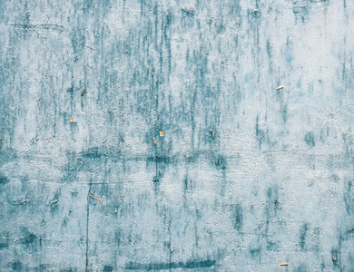 Grunge light blue painted wooden textured background