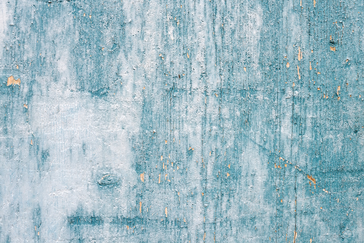 Grunge light blue painted wooden textured background