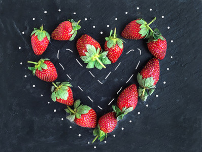 Saint Valentines day greeting berry set fresh garden strawberr