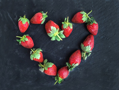 Saint Valentine s day greeting berry set  fresh garden strawberr