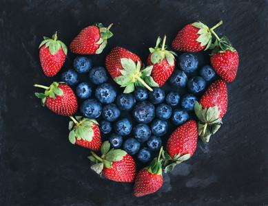 Saint Valentines day greeting berry set fresh garden straberri