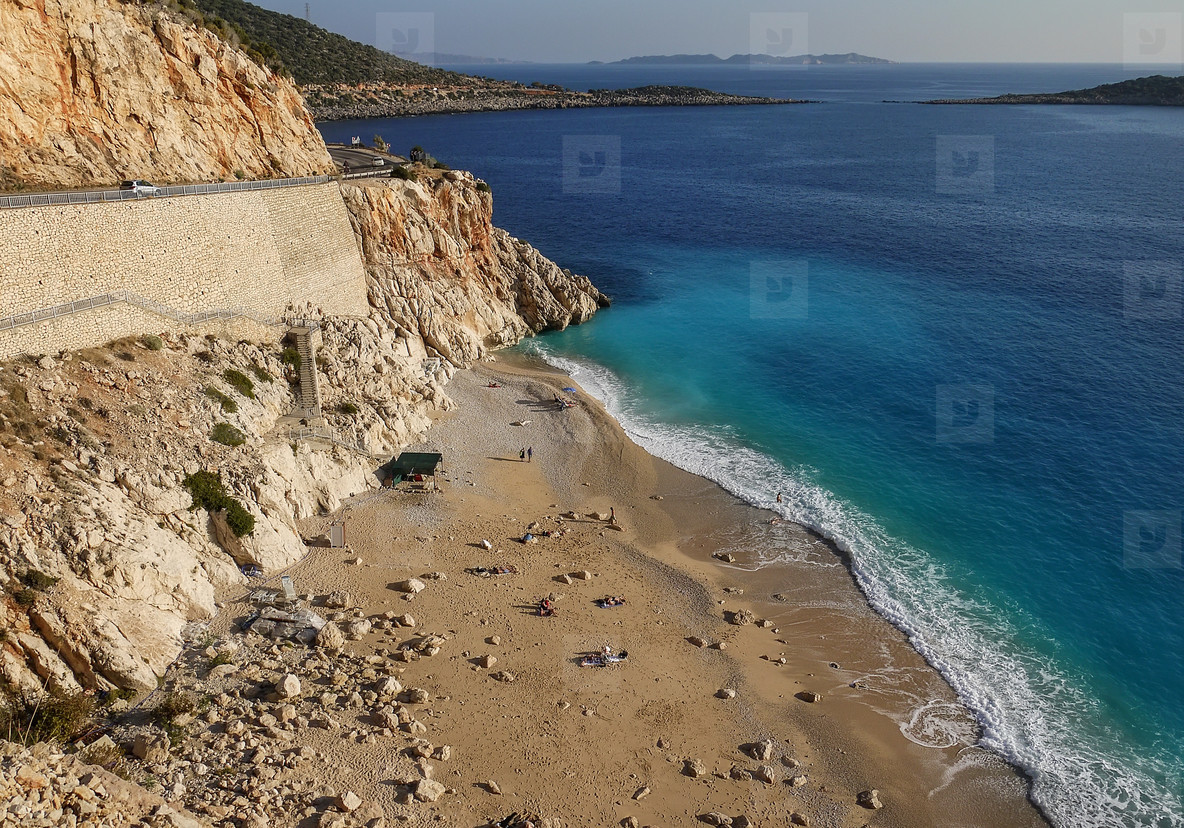 View of Kaputas beach near Antalya  Turkey