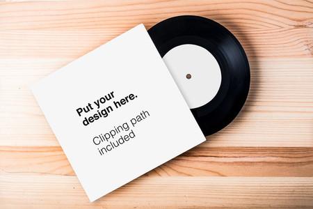 Blank vinyl record template