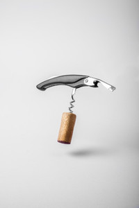 Wine cork and bottle opener