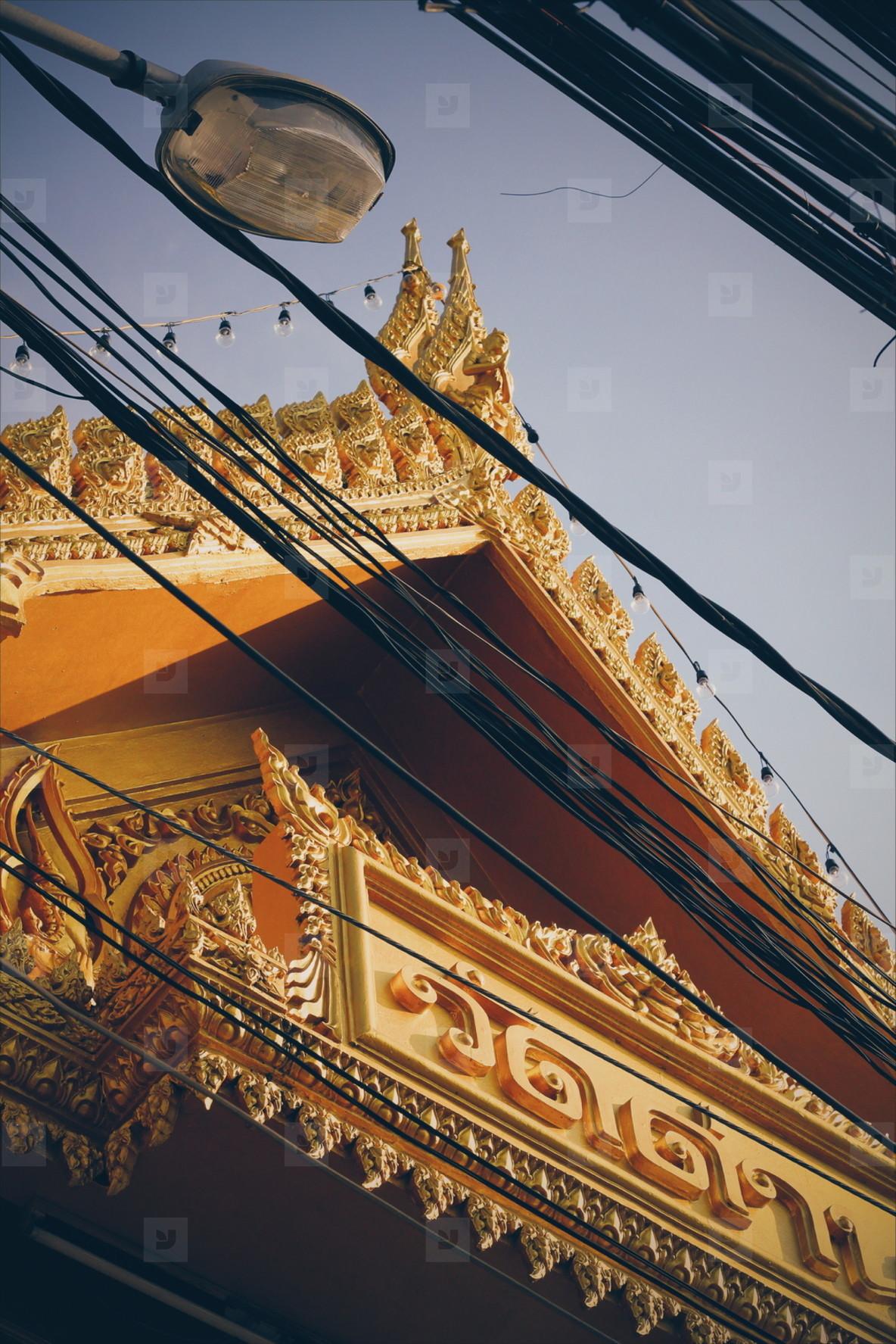 Thai temple roof