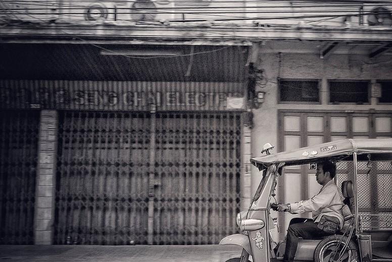 Tuk Tuk car on the road