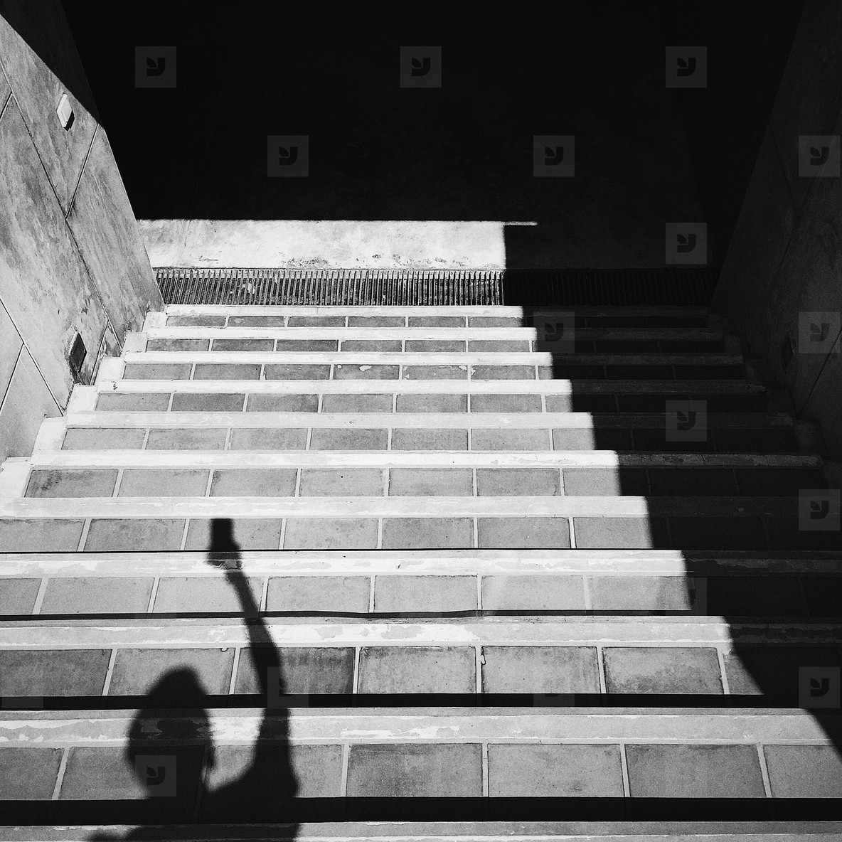 Shadow on stairs