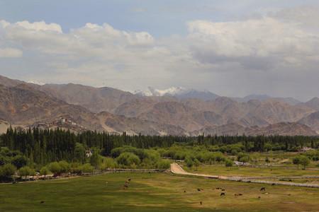 green valley  mountain
