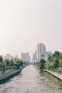 A canal of Bangkok