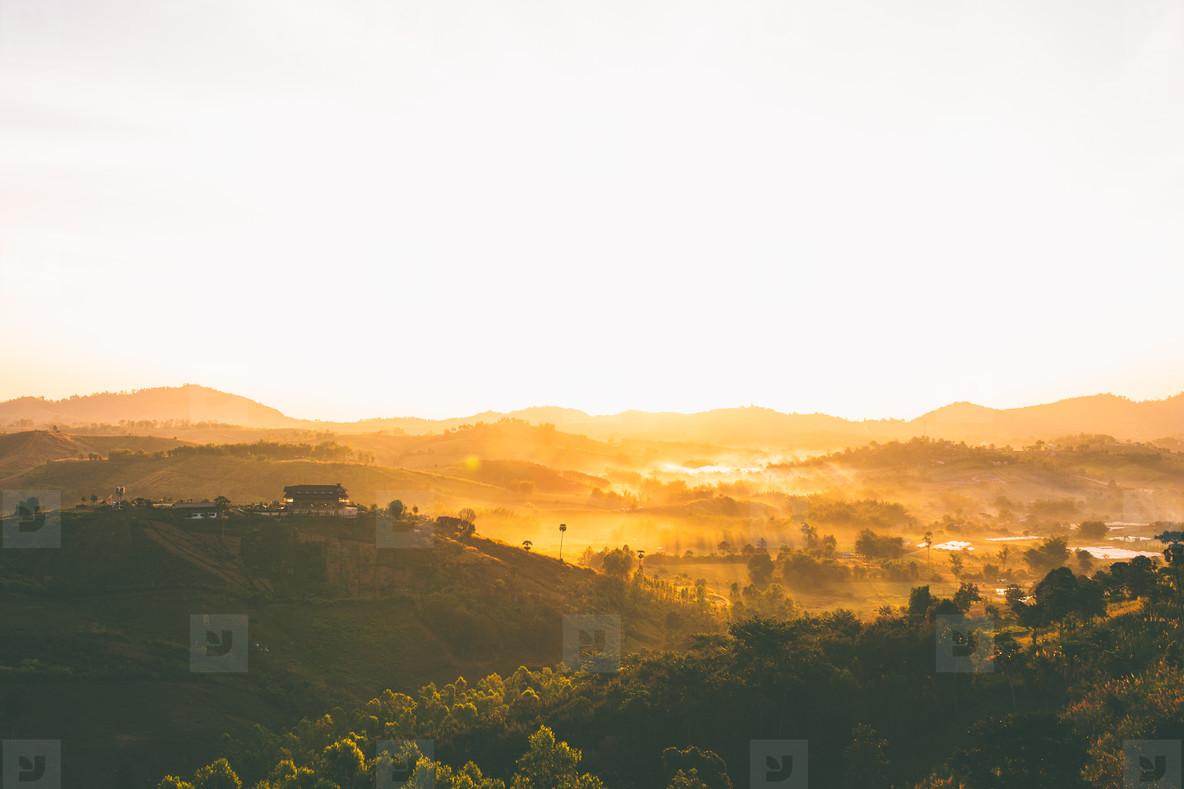 Morning in mountain village  02