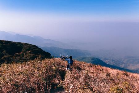 Tourisms on mountain