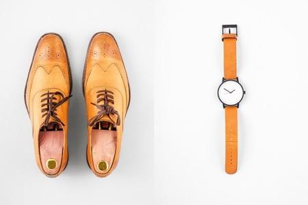 Mens fashion set   brogue shoes and matching wrist watch