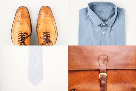 Mens fashionan set   shoes  shirt  briefcase and neck tie