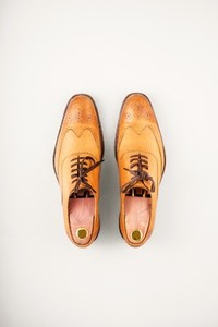 Mens leather brogue shoes