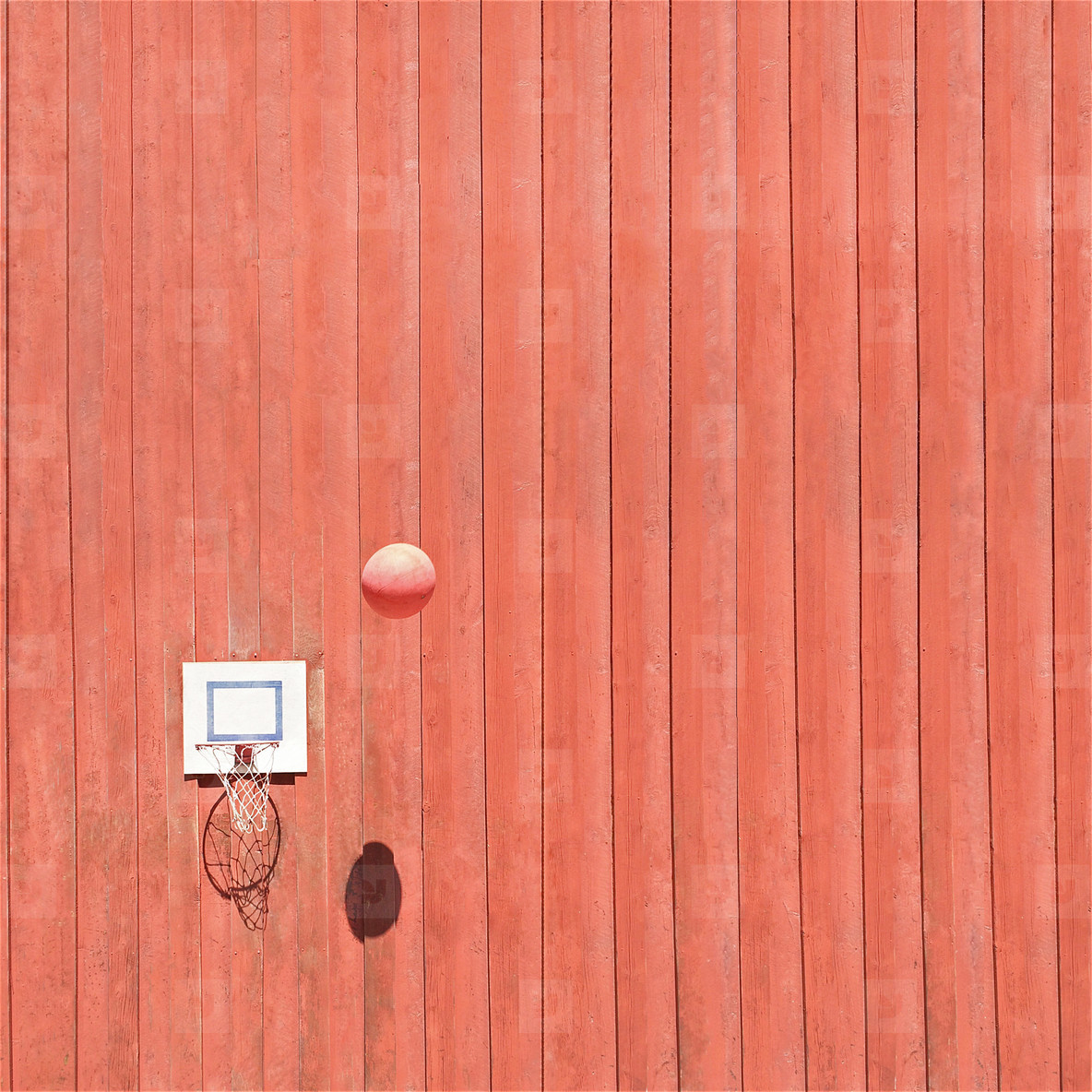 Basketball in the air