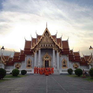 Monks on duties