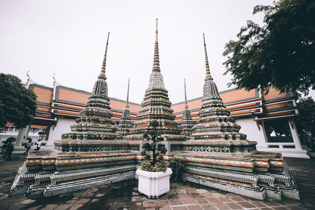 The pagodas of Wat Pho Temple