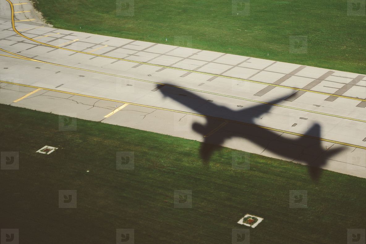 Airplane Takeoff Shadow