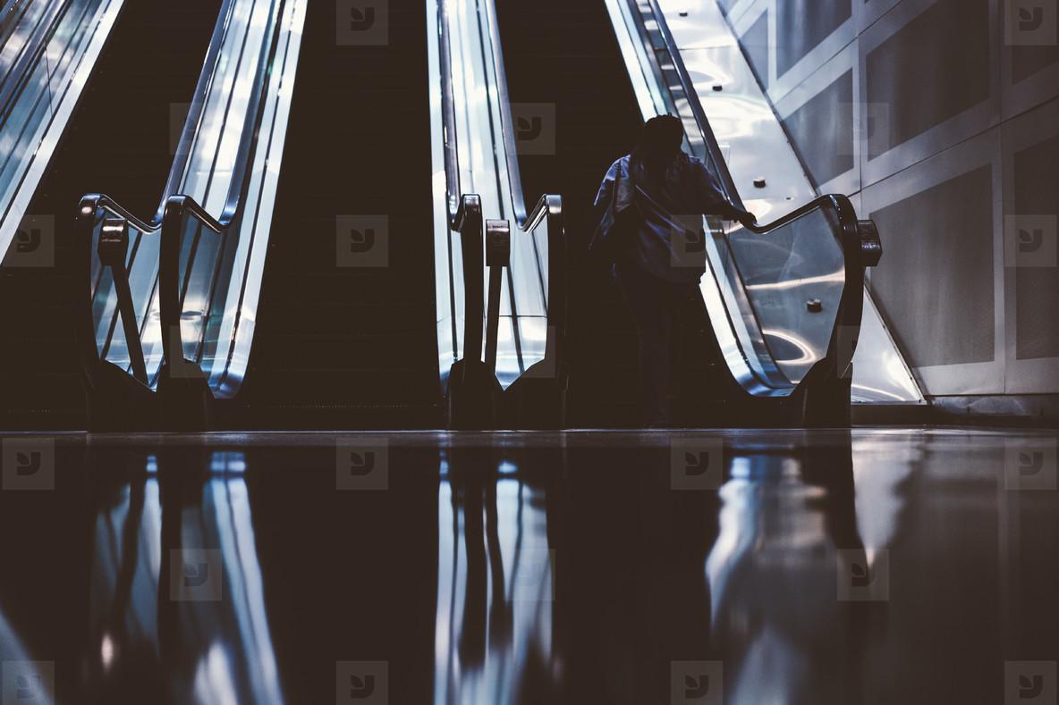 Detroit Airport Escalators