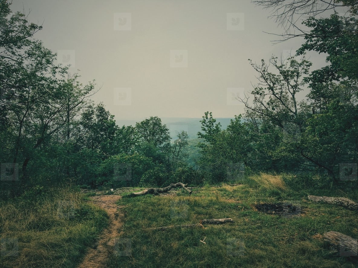 Empty camp site
