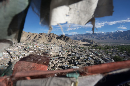 View of local houses  Leh  India