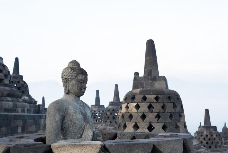 Ancient Buddha statue  Indonesia