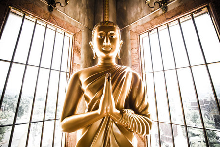View of buddha statue
