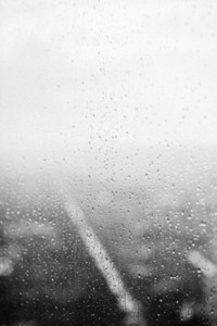 Abstract raindrop on window