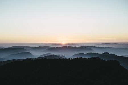 Sunset on summit thailand