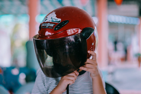 Boy with Helmet