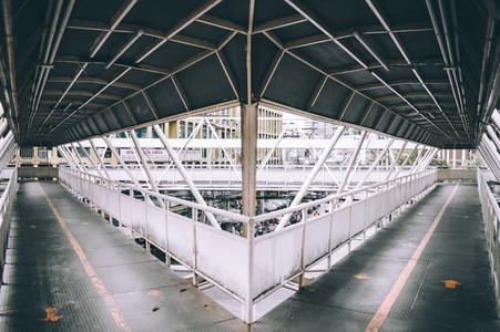 Traingle  Crosses Footbridge