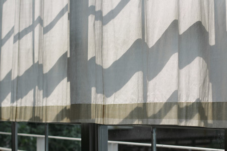 Curtains sun shines