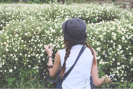 Enjoying Flower Garden