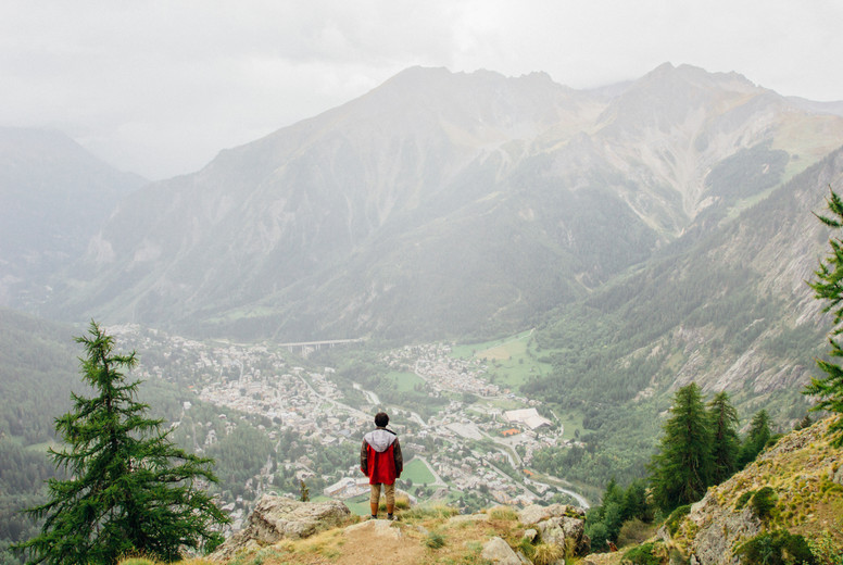 Hiker in the Alps