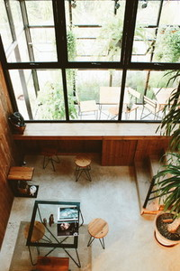 Hipster cafe interior 07