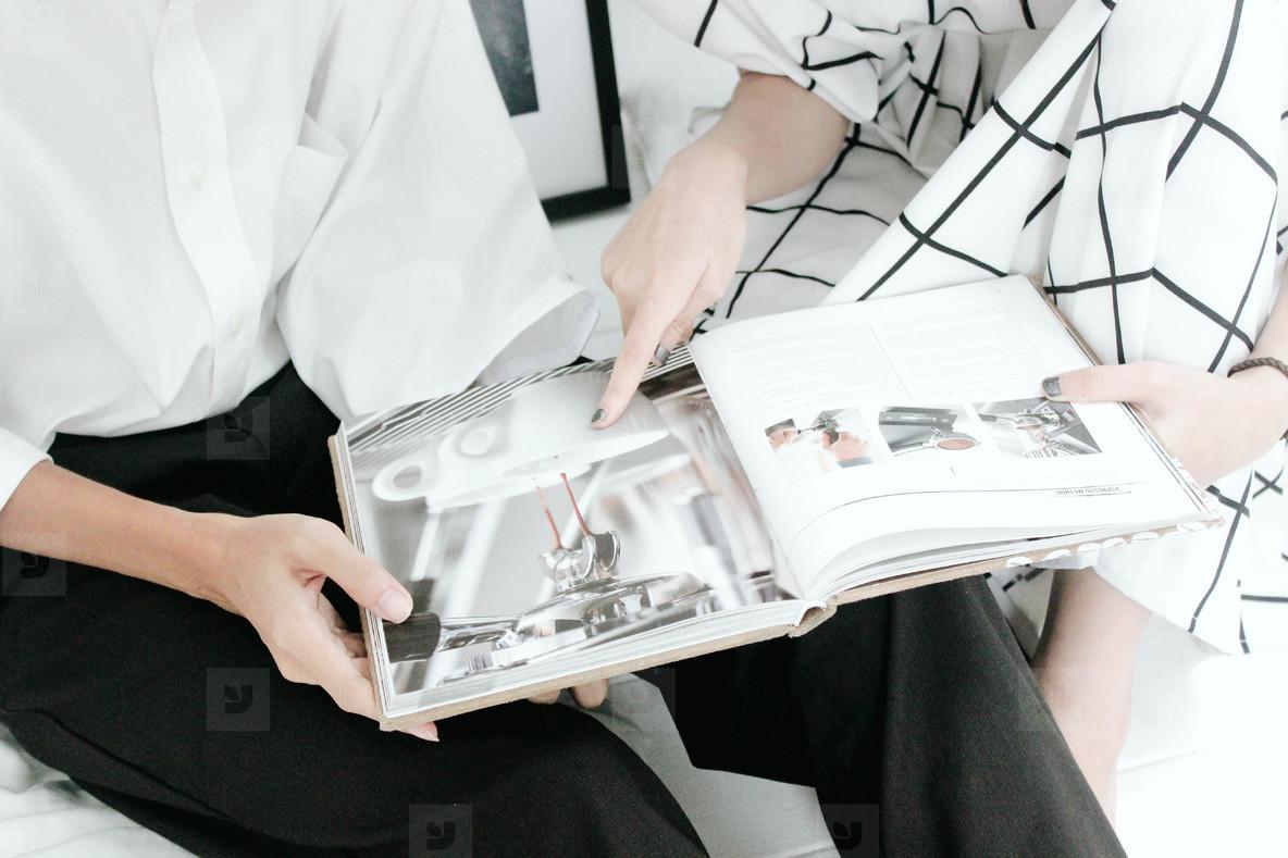 Reading magazine  Cafe