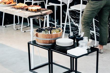 Modern design of bakery counter