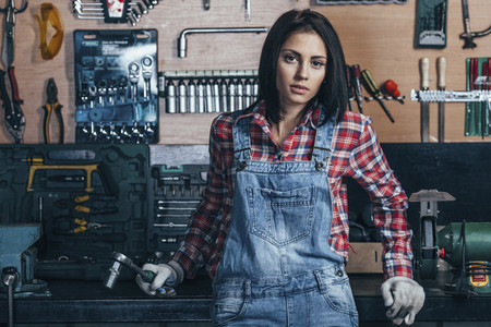 Young Female Mechanic 03
