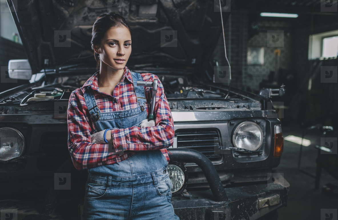 Young Female Mechanic  06