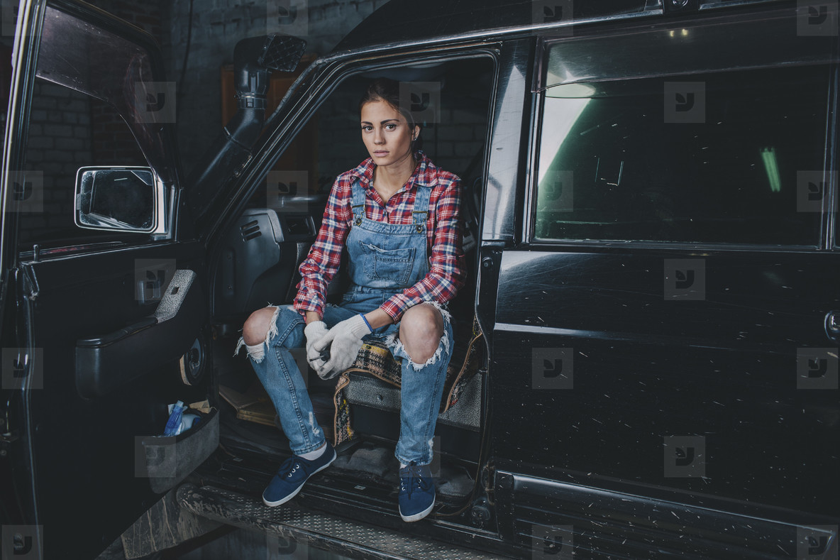 Young Female Mechanic  09
